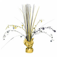Black Silver Gold Stars Spray Table Centrepiece Decoration Hollywood Movie Night