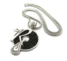 """ICED OUT JAY-Z, KANYE """" ROCAFELLA RECORDS """" PENDANT & 36"""" 4mm FRANCO CHAIN.."""