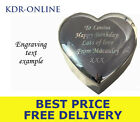 Personalised Engrave Silver Heart Trinket Jewellery Box Engraved Free Post Fast