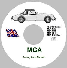 MGA Factory Parts Manuals - All Models 1955 - 1962