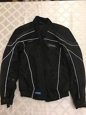 Frank Thomas Water Proof Zip Vents Padded Back Men's Motorcycle Jacket Size S