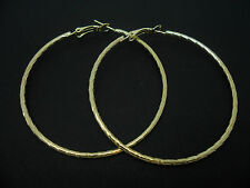 """A PAIR OF GOLD COLOUR  LARGE 60MM 6CM 2.5""""  HOOP  EARRINGS. NEW."""