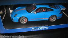 AUTOART 1.18 PORSCHE 911 997 GT3 RS 4.0 GLOSS BLue AWESOME LOOKING MODEL  NEW