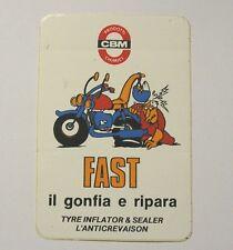 VECCHIO ADESIVO MOTO / Old Sticker Vintage CBM FAST GONFIA E RIPARA (cm 7 x 11)