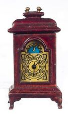 Dollhouse Miniature Working Carriage Clock in Mahogany by JBM Miniatures
