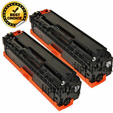 2 pack CF210A 131A Black Toner Fits HP Color Laserjet Pro 200 M251nw, M276nw