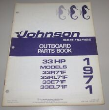 Parts Book Johnson Sea Horse Ersatzteilkatalog 33 HP Models 33R71F 33RL71F 1971!
