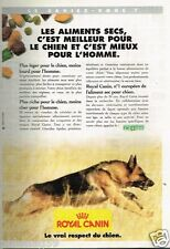 Publicité advertising 1996 Aliments pour chien Royal Canin