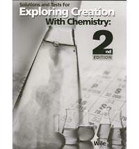 Apologia Exploring Creation with Chemistry 2nd Ed Solutions & Test Book NEW!