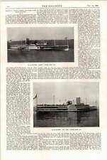 1898 American Paddlewheel Steamer New York Albany High-speed Air Pumps