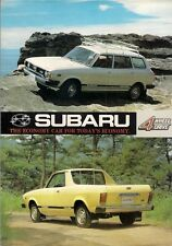 Subaru 1600 4WD Leone 1978-79 UK Market Foldout Sales Brochure Estate MV Pick-Up