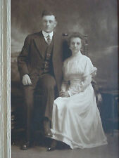 Late 1800's Man & Woman Portrait Frank W. Medlar Photographer Spencer, IA