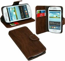 BOOK - Style case accessories for Samsung Galaxy S3 Mini i8190 in brown