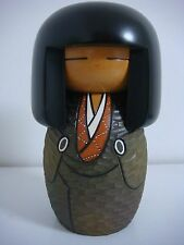 free shipping Japanese sosaku kokeshi doll 17 cm 6 3/4 inches by Kisaku