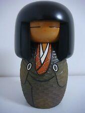 free shipping Japanese sosaku kokeshi doll 17 cm 6 3/4 inches by Kisaku