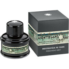 MONTBLANC PEN PERMANENT GREY INK INKWELL 90 YEARS   NEW IN BOX  BEAUTIFUL BOTTLE