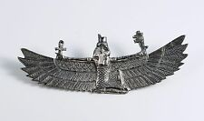 Vintage Egyptian Revival Winged Isis Pectoral Museum Replica Sterling Silver Pin