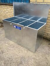 Ani-Mate 4 Compartment Horse Animal Feed Storage Bin Galvanised 425litres 240kgs