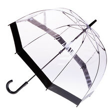 Clear Dome Birdcage Umbrella with Black Trim