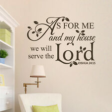 Scripture Removable Wall Sticker As For Me My House Lord Quote Vinyl Home Decor