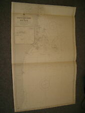 Vintage Admiralty Chart 3157 BRAZIL - ITACOLOMIS REEF to RIO DOCE 1900 edn