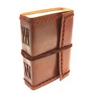 Fair Trade Handmade Small Eco Friendly Stitch Leather Journal Diary 2nd Quality