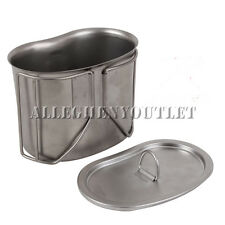 G.I TYPE STAINLESS STEEL CANTEEN CUP With Matching LID COVER NEW - FREE SHIPPING