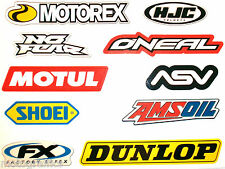 Motorcycle Colour Laminated Swingarm Frame Sticker Logo Decal x 10 MX Sport (3)