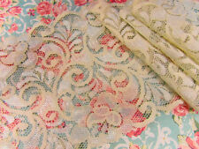 "4 yards Elastic/Stretch Ivory Soft Flower Floral Lace 6"" Wide/Trim/Sewing T213"