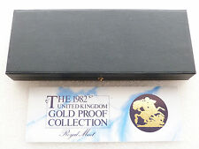 1982 Royal Mint Blue Gold Proof Sovereign 4 Coin Set Box & Coa Only No Coins
