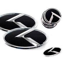 3D K Logo Front Grill Trunk Steering Wheel Emblem 7p 1Set For 13 14 Kia Forte K3