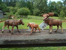 MOOSE FAMILY by Safari Ltd/toy/bull/cow/calf/NEW 2015/180829/181029/181229