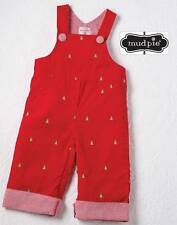 NEW Mud Pie Holiday Christmas Tree Overalls  0-6 Months DISCONTINUED