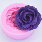 Mini 3D Rose Flower Fondant Cake Chocolate Sugarcraft Silicone Mold Cutter Tool