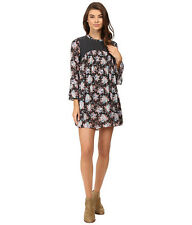 2016 NWT WOMENS VOLCOM SALTY FREE DRESS $60 S dark navy floral print