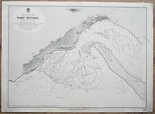1905 PORTUGAL POST SETUBAL VINTAGE ADMIRALTY CHART MAP