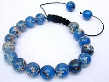 Men's Bracelet all 10mm Impression Jasper gemstone natural beads