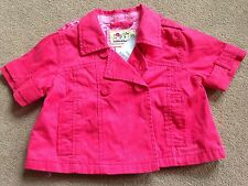 BNWT NEXT Pink Short Sleeved Jacket 5-6 Years