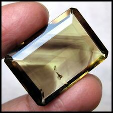 58.00 CARAT SPARKLING & RARE BIO COLOR GREEN GOLD QUARTZ GEMSTONE FOR PENDANT