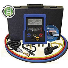 Mastercool 99972 4way Digital Manifold W/ Ball Valve Hoses Data Software & More!