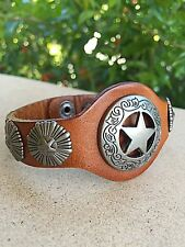 New Brown Leather Jewelry Star Pendant Studded Wrap Women Teenage Girl Bracelet