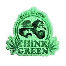 """Cheech & Chong Fan """"Think Green"""" Iron-On Patch Smoke Weed Pro-Marijuana Applique"""