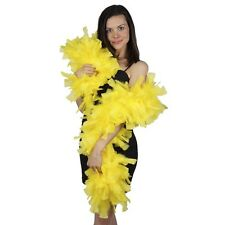 """Yellow 10-12"""" 175gm 6ft Wire Wrapped Turkey Feather Boa Theater Quality Stage"""