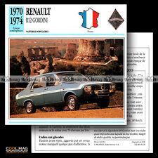 #054.09 RENAULT 12 R12 GORDINI (1970-1974) - Fiche Auto Car card