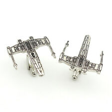 Star Wars cufflinks Fighter Silver Aircraft movie cufflinks