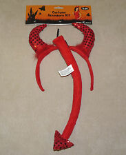 Devil Headband with tail - costume accessory kit - adult - HALLOWEEN - NWT