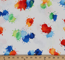 Cotton Color Drops Watercolor Paint Splotches Cotton Fabric Print D481.12