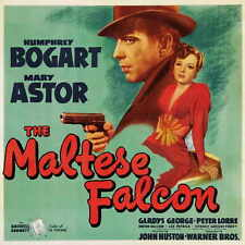 THE MALTESE FALCON Movie POSTER 30x30 Humphrey Bogart Mary Astor Peter Lorre