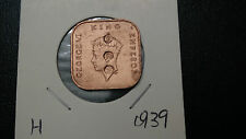 1cent--1939--young king--overprint--dai nippon--high grade