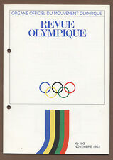 Orig.PRG / Guide - IOC Olympique Revue / November 1983 - Daten/Statistiken/..!!